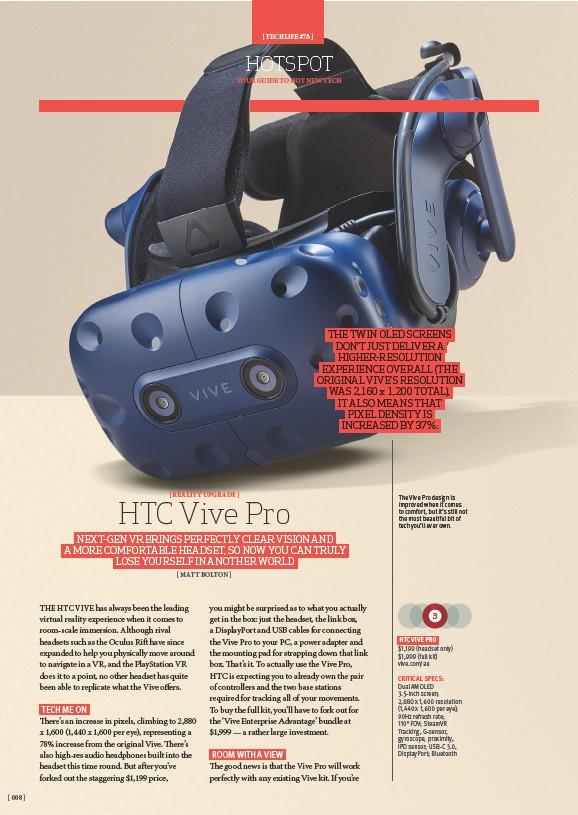 PressReader - TechLife Australia: 2018-07-01 - HTC Vive Pro
