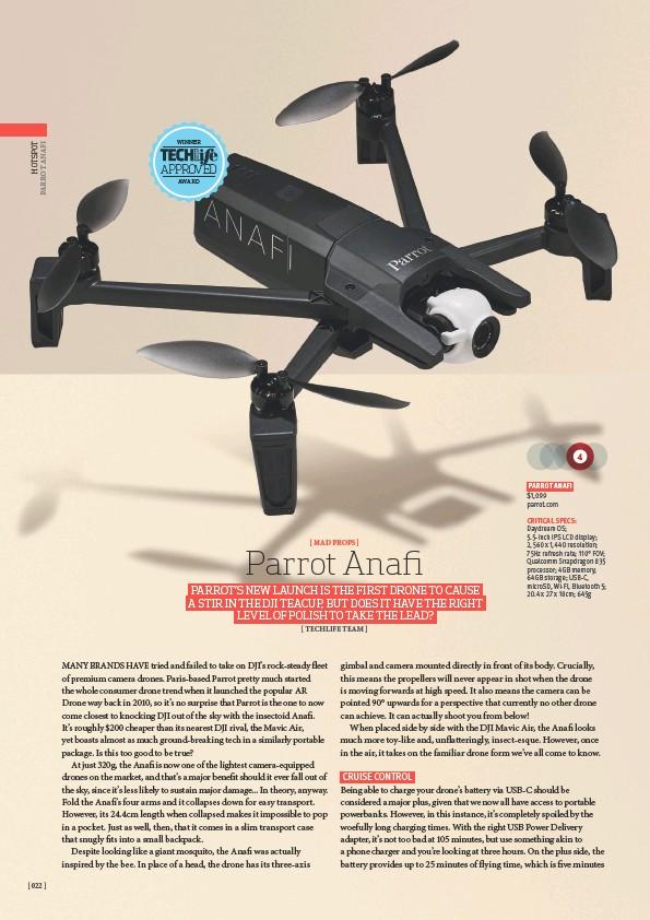 PressReader - TechLife Australia: 2018-10-01 - Parrot Anafi