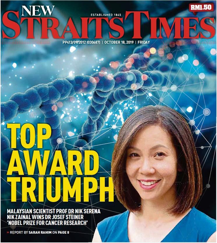 congelado exterior Señuelo  PressReader - New Straits Times: 2019-10-18 - TOP AWARD TRIUMPH