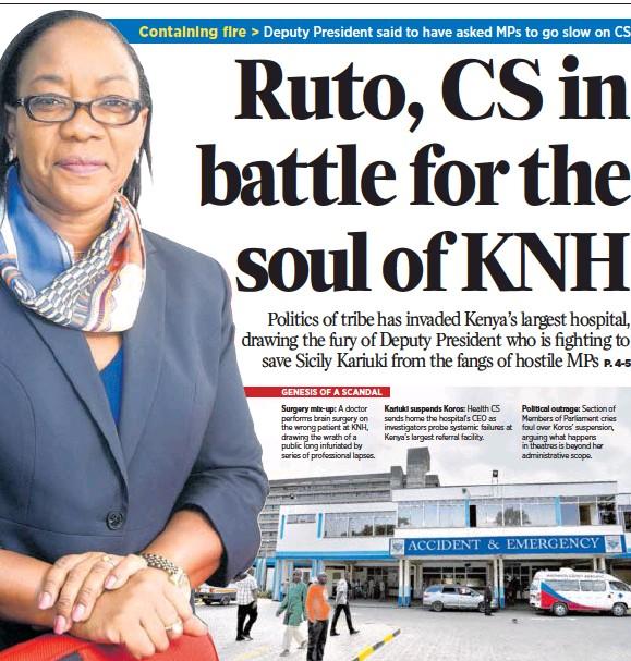 PressReader - Daily Nation (Kenya): 2018-03-09 - Ruto, CS in