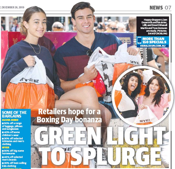 Pressreader Herald Sun 2019 12 26 Green Light To Splurge