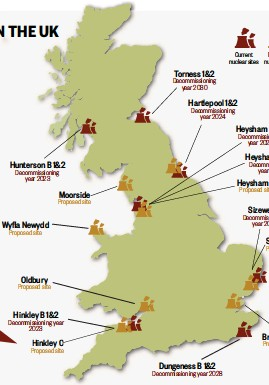 Map Of Uk Power Stations.Pressreader Countryfile Magazine 2016 10 31 Nuclear Power