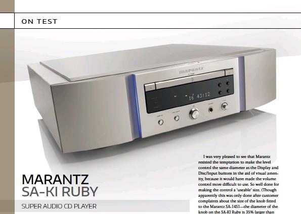PressReader - Australian HIFI: 2019-03-01 - marantz sa-ki Ruby Super