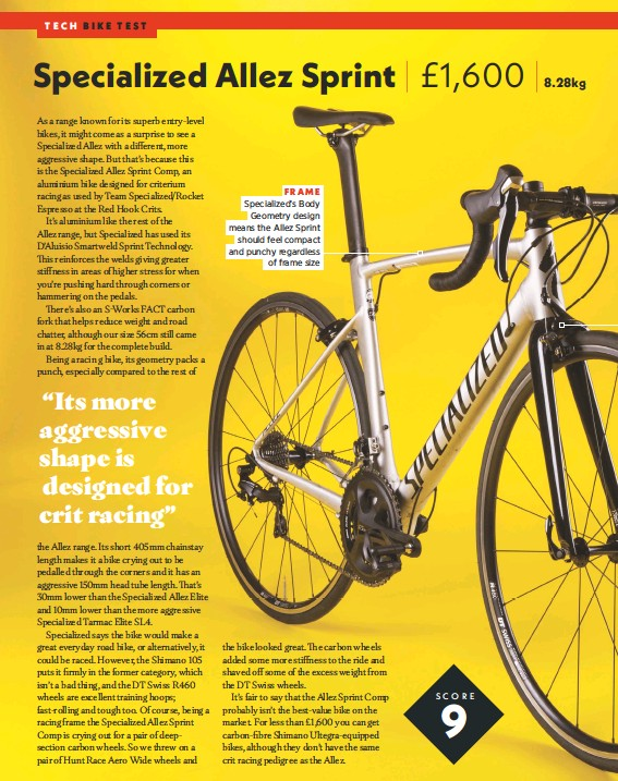 PressReader - Cycling Weekly: 2018-05-10 - Specialized Allez