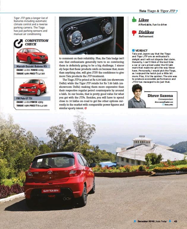 PressReader - Auto Today: 2018-12-01 - Tata Tigor JTP