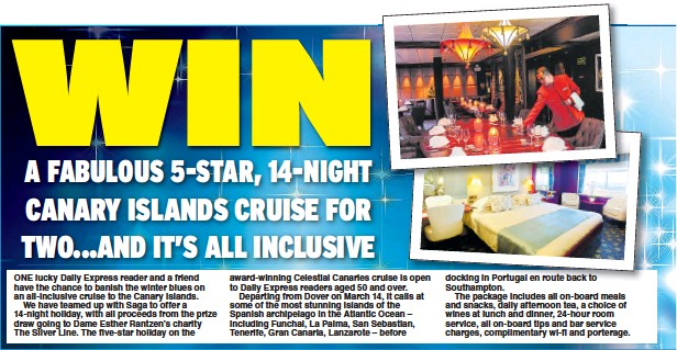 PressReader - Daily Express: 2018-12-12 - WIN A cruise and