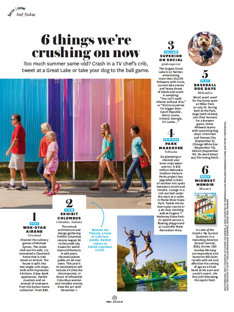 PressReader - Midwest Living: 2019-07-01 - TRAVEL NEWS
