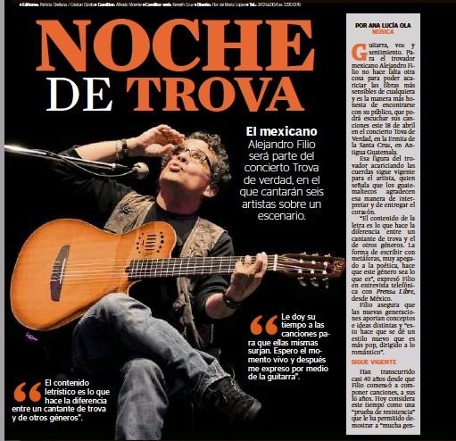 PressReader - Prensa Libre: 2015-04-15 - NOCHE TROVA
