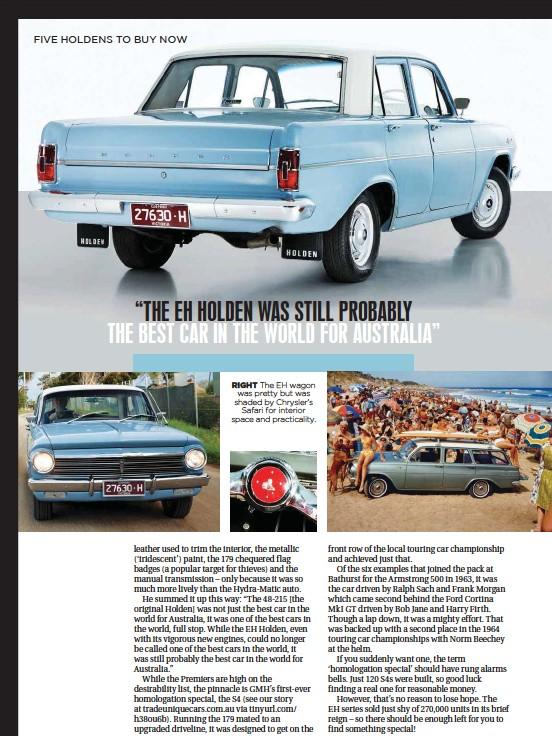 PressReader - Unique Cars: 2016-06-01 - Holden EH SPECIAL