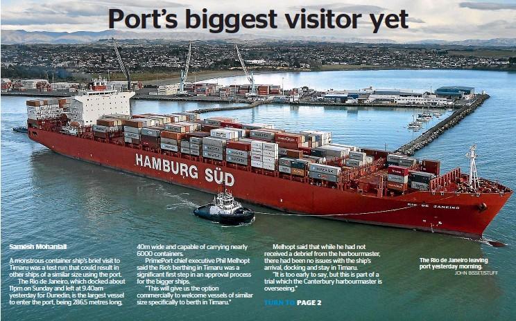 PressReader - The Timaru Herald: 2019-05-28 - Port's biggest