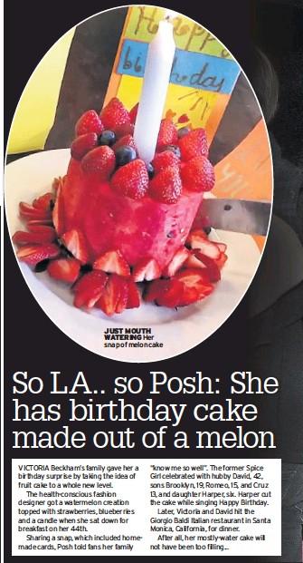 Enjoyable Pressreader Daily Mirror 2018 04 19 So La So Posh She Has Personalised Birthday Cards Veneteletsinfo