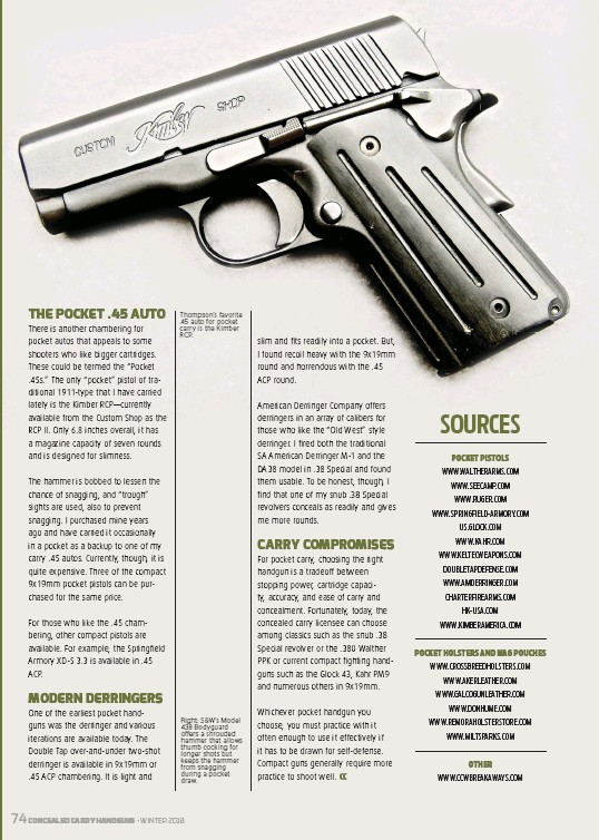 PressReader - Concealed Carry Hand Guns: 2018-11-01 - POCKET