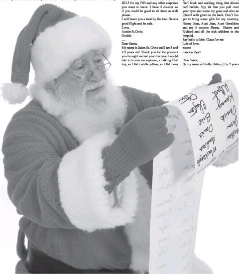 Pressreader the telegram st johns 2014 11 25 letters to santa with it also i would like a couple of surprises it doesnt matter what it is dont forget my little sister jorja and my puppy flower spiritdancerdesigns Images