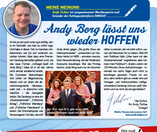 andy borg schlager spaß