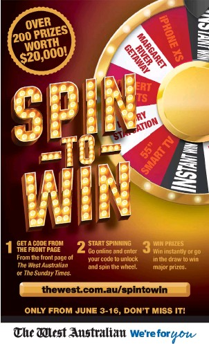PressReader - The West Australian: 2019-06-15 - SPIN-TO-WIN