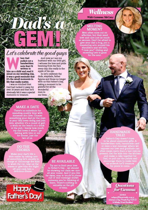 PressReader - Woman's Day (NZ): 2019-08-19 - Dad's a GEM!