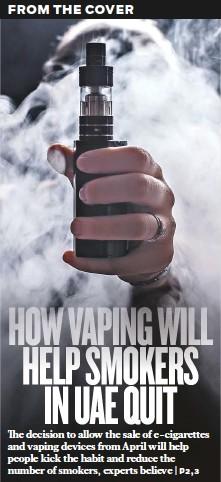PressReader - Gulf News: 2019-02-19 - HOW VAPING WILL HELP SMOKERS