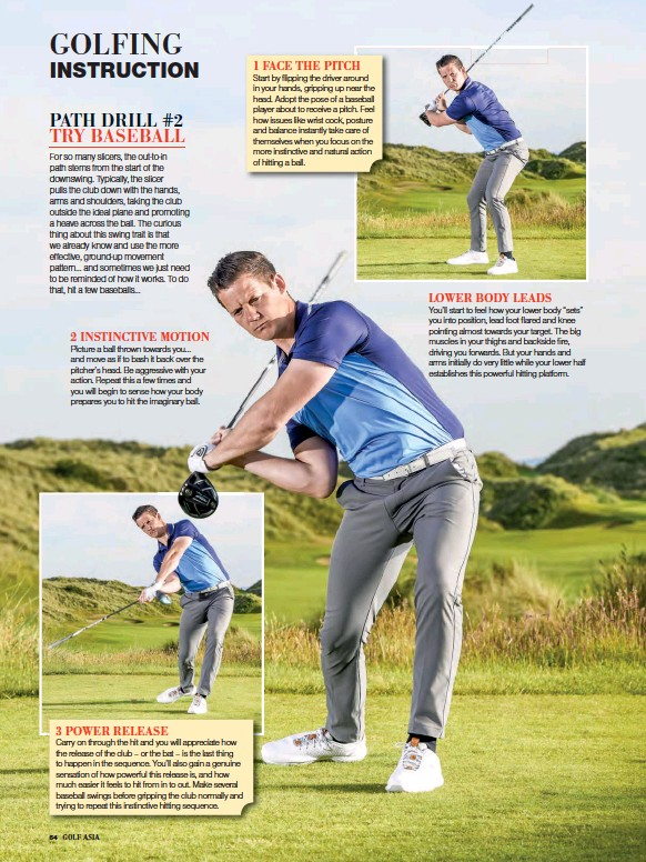 Pressreader Golf Asia 2019 04 01 Path Drill 2 Try Baseball