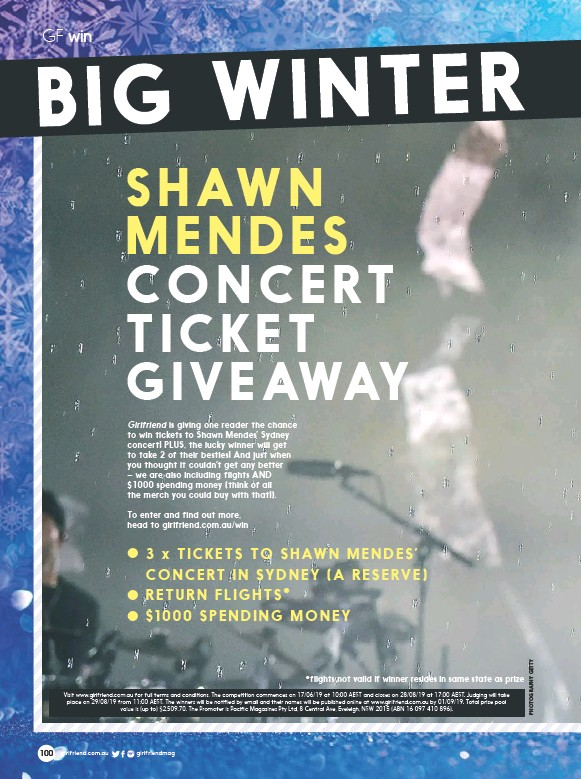 PressReader - Girlfriend: 2019-06-01 - SHAWN MENDES CONCERT TICKET