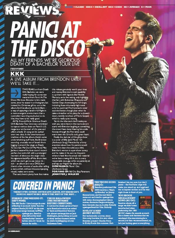 PressReader - Kerrang! (UK): 2017-12-09 - PANIC! AT THE DISCO