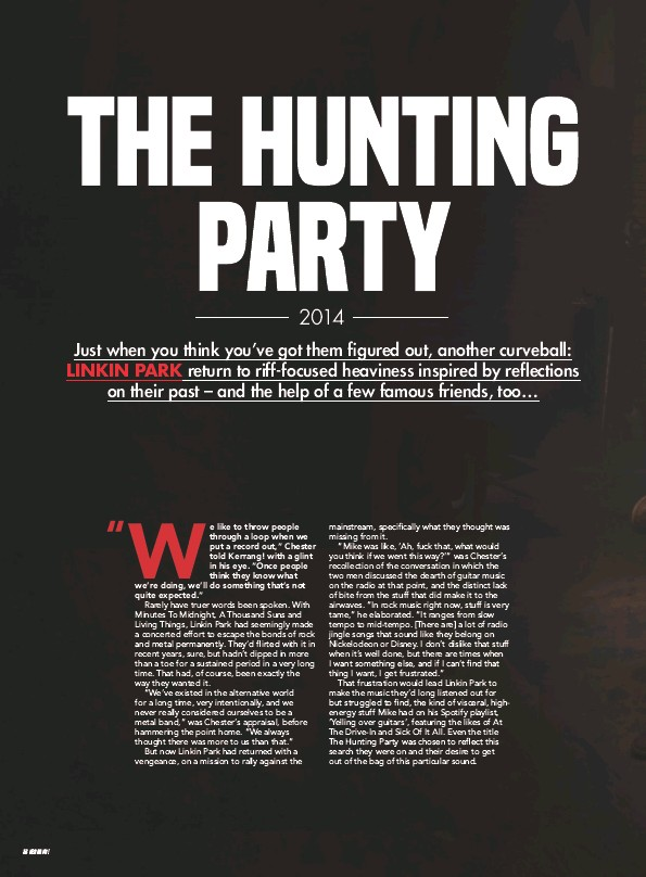 The hunting party linkin park playlist