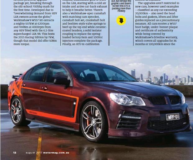 PressReader - Motor (Australia): 2017-07-13 - Walkinshaw's 557kW GTS