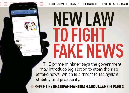 Image result for fake news law malaysia