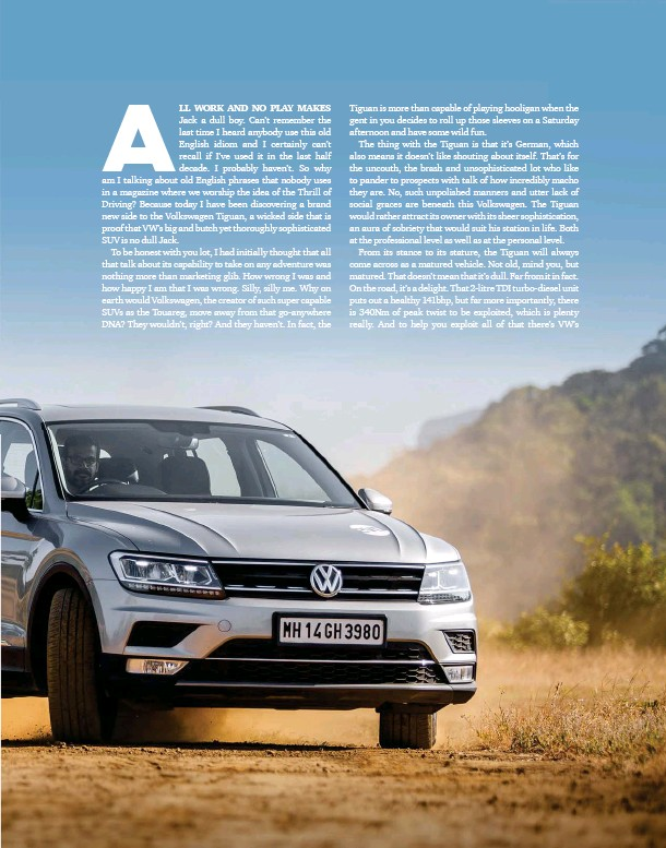 PressReader - Evo India: 2019-01-21 - LIVING WITH THE TIGUAN