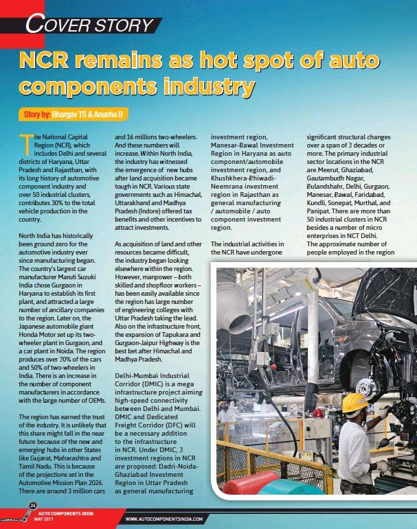 PressReader - Auto components India: 2017-05-10 - NCR