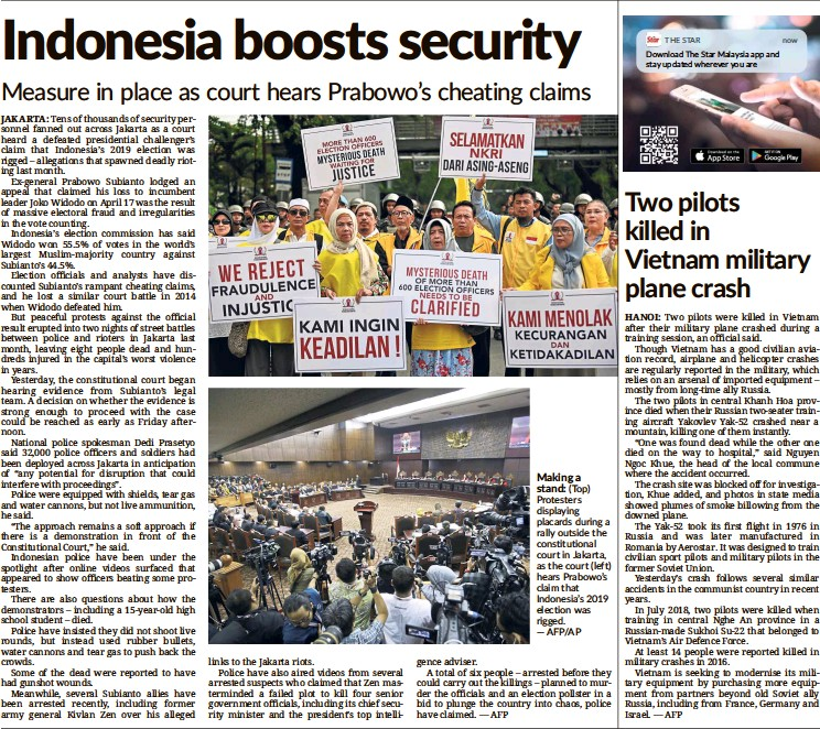 PressReader - The Star Malaysia: 2019-06-15 - Indonesia
