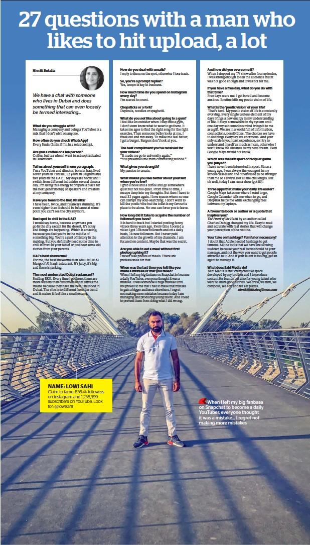 PressReader - Khaleej Times: 2018-01-26 - 27 questions with