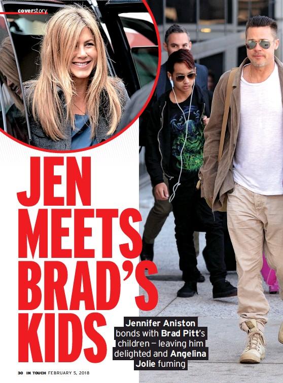 Pressreader In Touch Usa 2018 02 02 Jen Meets Brad S Kids