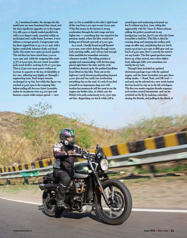 PressReader - Bike India: 2019-06-10 - Triumph Street Scrambler