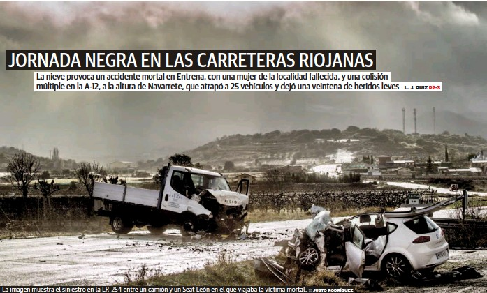 JORNADA NEGRA EN LAS CARRETERAS RIOJANAS