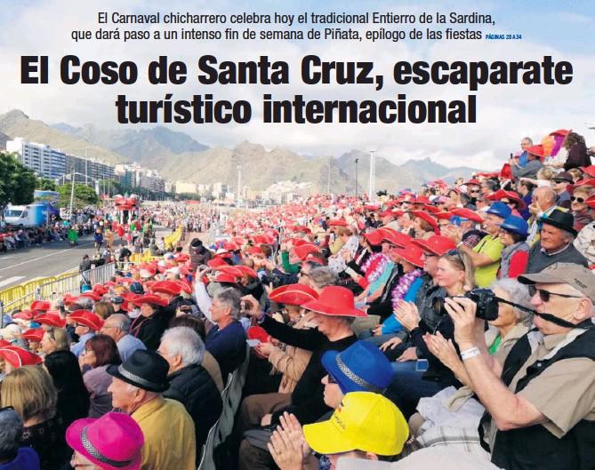 EL COSO DE SANTA CRUZ, ESCAPARATE TURÍSTICO INTERNACIONAL