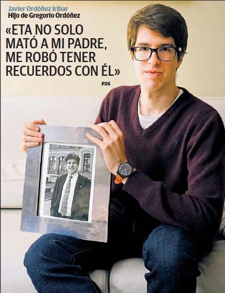 «ETA NO SOLO MATÓ A MI PADRE, ME ROBÓ TENER RECUERDOS CON ÉL»