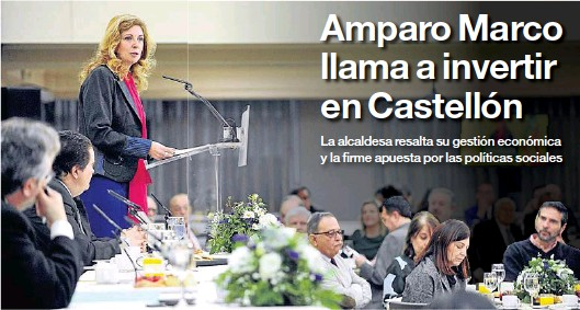 AMPARO MARCO LLAMA A INVERTIR EN CASTELLÓN