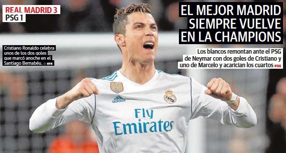 EL MEJOR MADRID SIEMPRE VUELVE EN LA CHAMPIONS