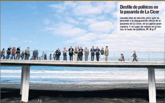 DESFILE DE POLÍTICOS EN LA PASARELA DE LA CÍCER