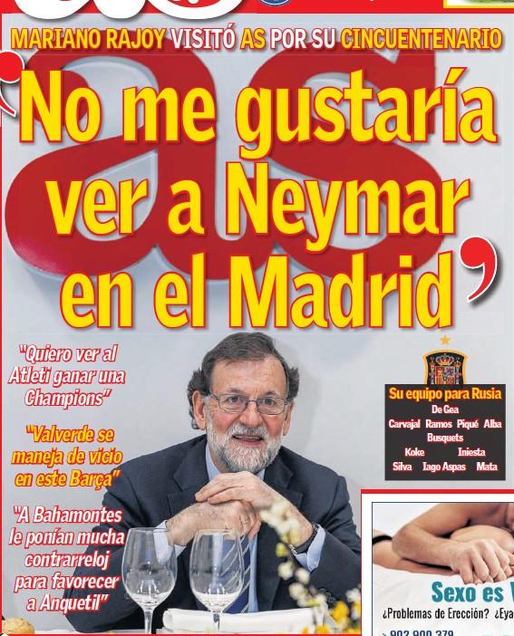 'NO ME GUSTARÍA VER A NEYMAR EN EL MADRID'