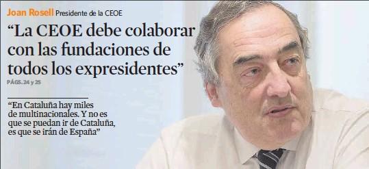 """""""LA CEOE DEBE COLABORAR CON LAS FUNDACIONES DE TODOS LOS EXPRESIDENTES"""""""
